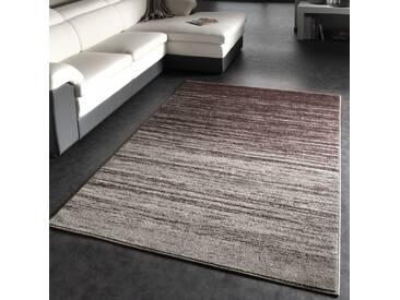 Moderner Designer Teppich Kurzflor Flachflor Velours Farbverlauf In Grau Braun