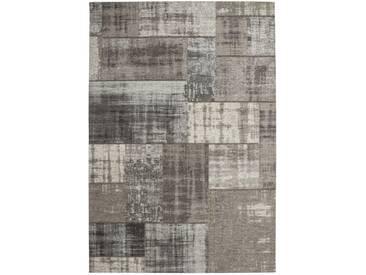 Designer Teppich Modernes Patchwork Vintage Muster Silber