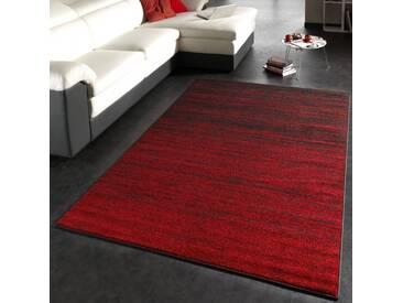 Moderner Designer Teppich Kurzflor Flachflor Velours Farbverlauf In Rot Braun
