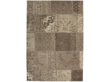 Designer Teppich Modernes Patchwork Vintage Muster Beige