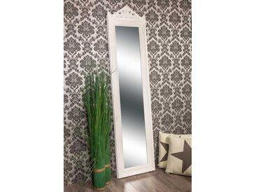 barockspiegel wandspiegel weiss barock krone caroline 160 x 40 cm