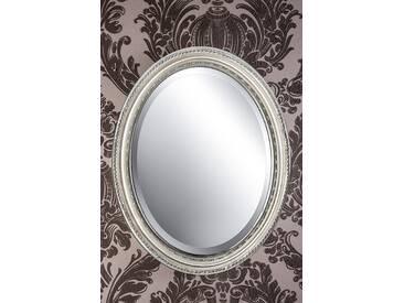 Spiegel oval silber DUNJA 47 x 37 cm