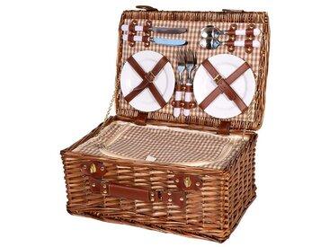 Picknickkorb braun aus Weide  -  indoor