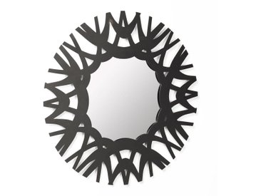 La Forma Mitchell Runder Spiegel 60x2x60cm Schwarz Black