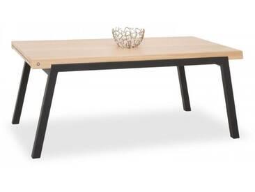 Esstisch London Wood Mobitec Tischplatte:e26 - eiche weiß gekreidet;Gestellfarbe:a08 - metall bronze