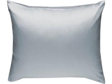 Mako Satin Kissenbezug uni grau 80x80 cm
