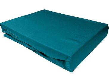 Mako Satin Spannbettlaken petrol blau 180x200 cm