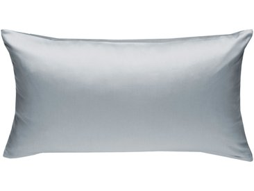 Mako Satin Kissenbezug uni grau 40x80 cm