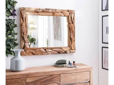 DELIFE Wandspiegel Palmiro 100x80 Altholz Natur Unikat Rustikal, Spiegel