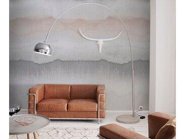 DELIFE Bogenlampe Big-Deal Deluxe Silber dimmbar Betonfuß, Stehleuchten