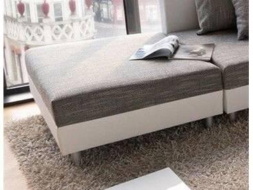 DELIFE Modul Clovis Hocker weiss/hellgrau, Design Modulsofas, Couch Loft, Modulsofa, modular