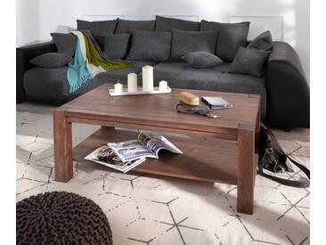 DELIFE Couchtisch Indra Akazie Braun 120x70 Ablage Massivholz, Couchtische