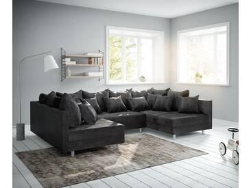 DELIFE Wohnlandschaft Clovis Anthrazit Antik Optik Modulsofa, Design Wohnlandschaften, Couch Loft, Modulsofa, modular