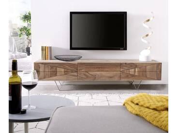 DELIFE Designer-Lowboard Wyatt 175 cm Sheesham Natur 1 Klappe, Fernsehtische