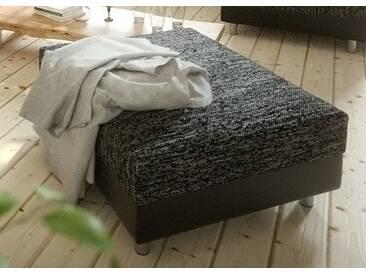 DELIFE Hocker Clovis B98 x T83 Schwarz Modul Kunstleder, Design Modulsofas, Couch Loft, Modulsofa, modular