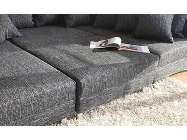 DELIFE Hocker Clovis B98 x T83 Schwarz Modul Strukturstoff, Design Modulsofas, Couch Loft, Modulsofa, modular