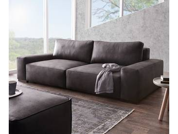 DELIFE Big-Sofa Lanzo XL 270x125 cm Anthrazit Vintage Optik, Big Sofas