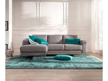 DELIFE Designer-Ecksofa Silas 235x147 cm Grau Ottomane Links, Ecksofas, Designer Sofa