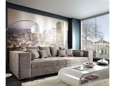 DELIFE Bigsofa Marlen 300x140 cm Hellgrau Couch, Big Sofas