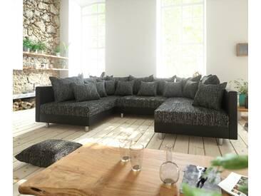 DELIFE Wohnlandschaft Clovis Schwarz Modularsofa Modulsystem, Design Wohnlandschaften, Couch Loft, Modulsofa, modular