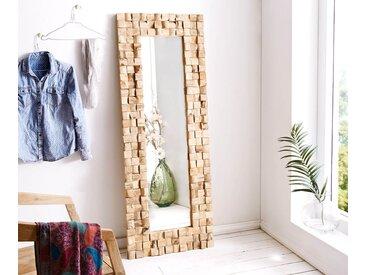 DELIFE Wandspiegel Padma 160x60 Teak Natur handgefertigt Unikat, Spiegel