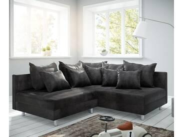 DELIFE Ecksofa Clovis Anthrazit Antik Optik Ottomane Rechts Modulsofa, Design Ecksofas, Couch Loft, Modulsofa, modular