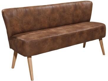 DELIFE Sitzbank Mycroft 180x70 Braun Vintage Optik Beine hell, Bänke