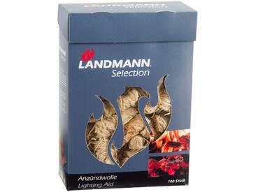 Landmann Anzündwolle in Wachs getränkt 100 Stk. Holzwolle 15103