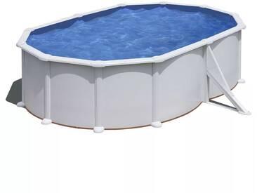 Gre Pool-Set Bora Oval Weiß 500x350cm KITPROV5