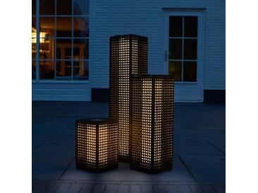 Luxform Solar LED Garten-Wegeleuchte Martinique Schwarz 25 cm 30040