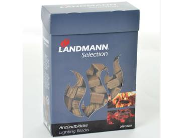 Landmann Anzündblöcke 200 Stk. Gepresste Holzfasern 15104