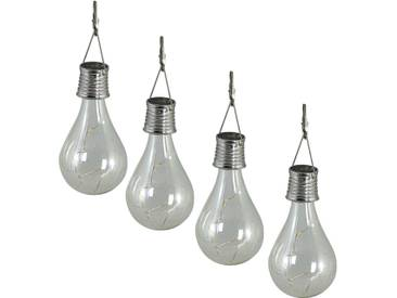 Luxform Solar LED Garten Party-Lichterkette 4 Stk. Transparent 95420