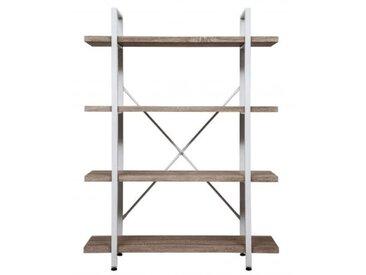 VDD Wandschrank Robustes Metall Holz Industriedesign offenes Bücherregal