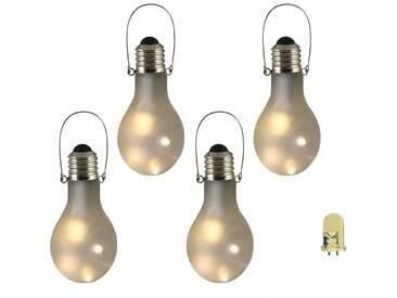 Luxform Gartenlampen LED Deko-Lichter 4 Stk. Mattglas 95434