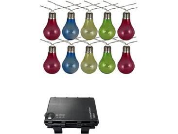 Luxform Batteriebetriebene Partylichter mit 10 LEDs Bunt 95111