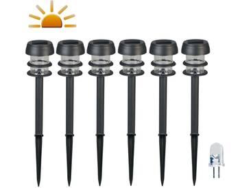 Luxform Solar LED Garten-Wegeleuchten Lagos 6 Stk. Schwarz 30669