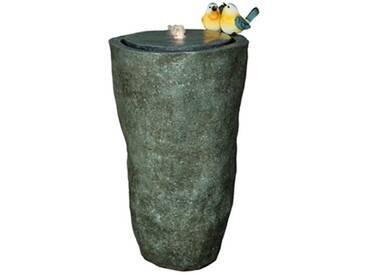 Velda Gartenbrunnen Hohe Vase mit Vogelpaar Grau 850848