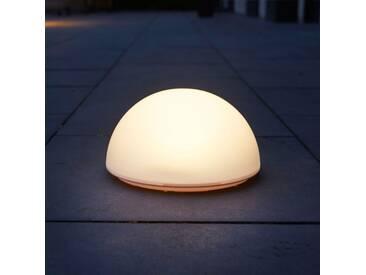 Luxform Solar LED Garten-Bodenleuchte La Rochette Halbkugel 40101