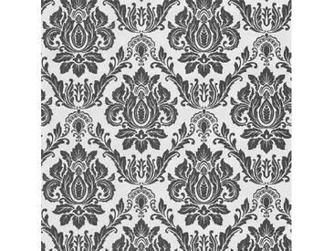 DUTCH WALLCOVERINGS Tapete Barockmuster Weiß und Schwarz 02508-20