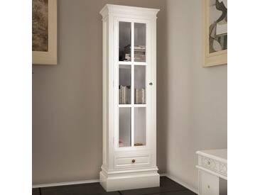 vidaXL Bücherschrank aus Holz mit 3 Regalen Weiß Shabby Chic