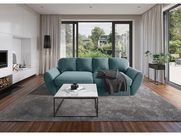 sit&more Big-Sofa, blau, Microfaser