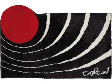 Badematte »Colani 2« Colani, Höhe 24 mm, rutschhemmend beschichtet, fußbodenheizungsgeeignet, grau, quadratisch 60x60 cm