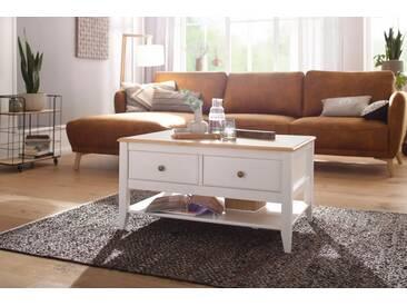 Home affaire Couchtisch »Leoinis« mit 4 Schubladen, Breite 89 cm, weiß