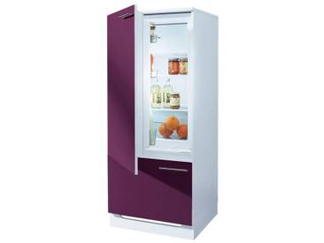 Kühlmodul »Ahus«, mit ****-Kühlschrank AMICA »EKS16161«, wiho Küchen, lila