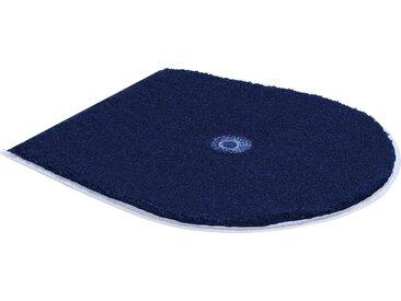 Badematte »Crystal Light« Grund, Höhe 24 mm, rutschhemmend beschichtet, fußbodenheizungsgeeignet, blau, WC-Deckelbezug 47x50 cm
