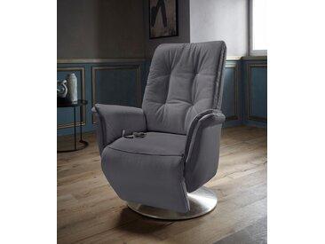 Places of Style TV-Sessel »Townsville«, in Größe M, wahlweise mit Heizmatte und mit Motor und Aufstehhilfe, grau, NaturLEDER®