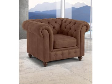 Premium collection by Home affaire Sessel »Chesterfield«, braun, Microfaser