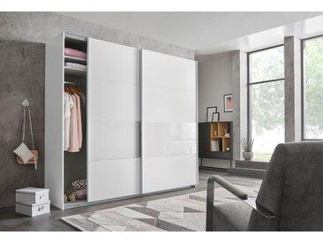 Wimex Schwebetürenschrank »Bramfeld« mit Glaselementen und zusätzlichen Einlegeböden, weiß