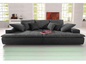 Nova Via Big-Sofa, wahlweise in 2 Größen, schwarz, Microfaser PRIMABELLE®-Struktur, 260 cm x 85 cm x 142 cm