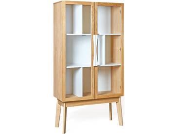 Woodman Vitrine »Hilla«, Breite 88 cm, beige